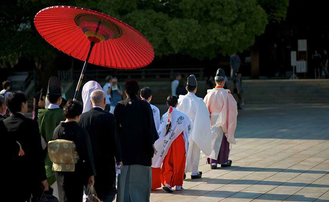 Meiji Shrine Rraditional Wedding Ceremony